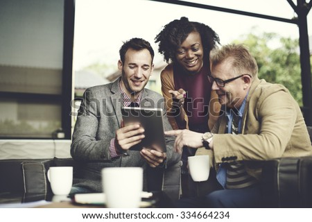 Business Team Coffee Shop Connection Concept - stock photo