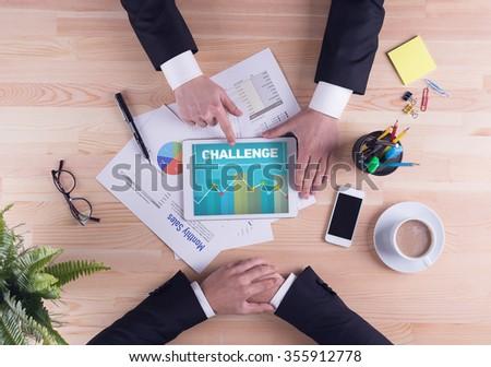 Business team concept - CHALLENGE - stock photo