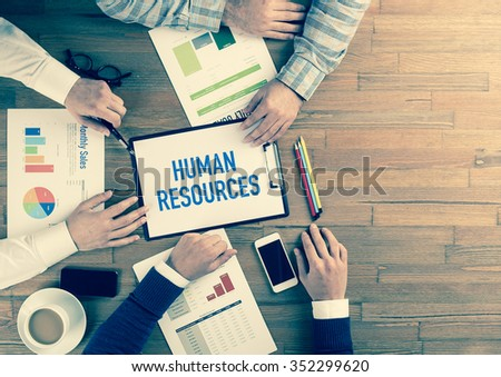 Business Team Concept: HUMAN RESOURCES - stock photo