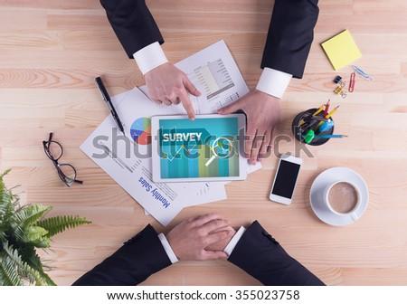 Business team concept - SURVEY - stock photo
