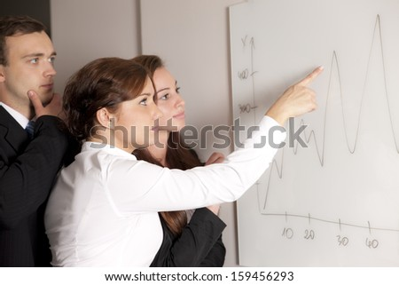 Business team discussing about diagram