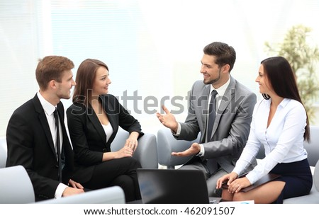 Business team discussing together business plans