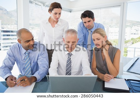 Business team during meeting in the office