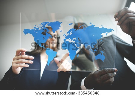 Business Team Global Business Planning Working Concept