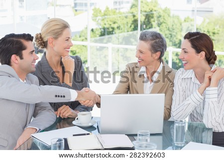 Business team having a meeting in the office