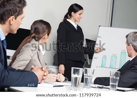 Business team having strategy meeting in the office - stock photo