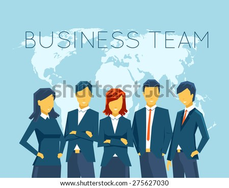 Business team, human resources. People and person, communication, businesswoman and businessman, meeting office - stock photo