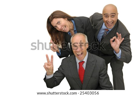 Business team isolated in white