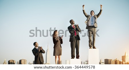 Business Team Leader Success Competition Corporate Concept - stock photo