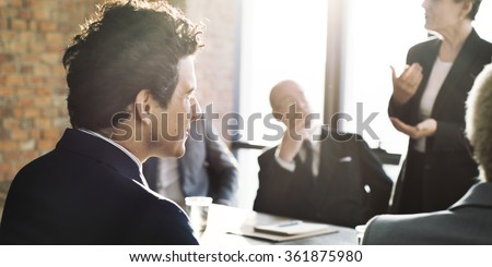 Business Team Meeting Brainstorming Togetherness Concept - stock photo