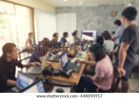 Business Team Meeting Concept in a office , Blurred Background
