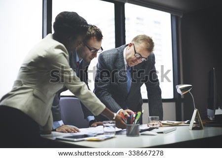 Business Team Meeting Discussion Connection Concept - stock photo