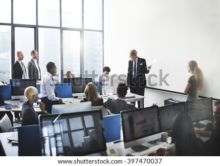 Business Team Meeting Strategy Planning Concept