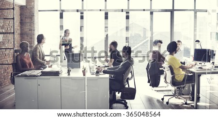 Business team Meeting Working Talking Concept - stock photo