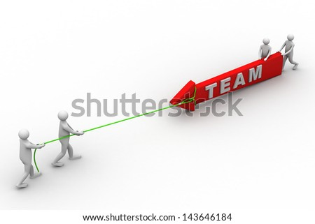 business team pulling up bar using rope - stock photo