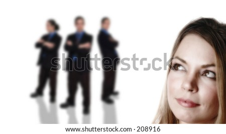 business team series - stock photo