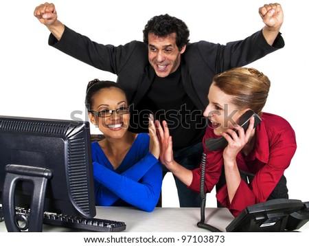business team success - stock photo