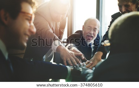 Business Team Support Join Hands Concept - stock photo
