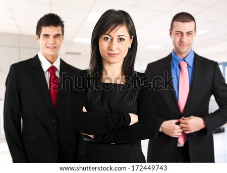 Business team welcoming you