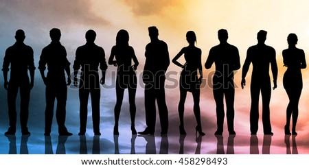 Business Team With Power Confident Pose as Abstract