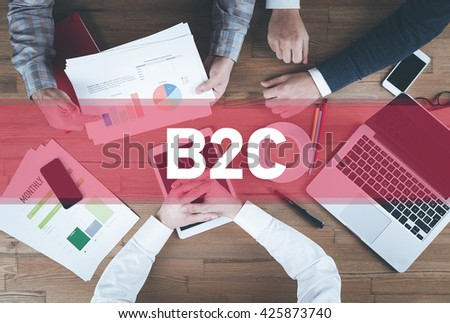 Business team working and B2B concept - stock photo