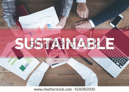 Business team working and Sustainable concept - stock photo