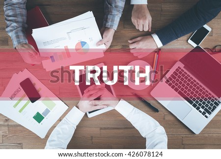 Business team working and Truth concept - stock photo