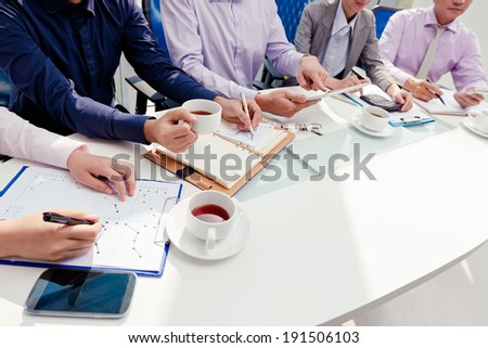 Business team working on start-up project