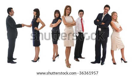 business teamwork concept with your business people meeting - stock photo