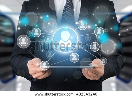 Business technology and internet concept.