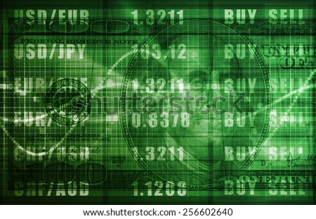 Business Technology Background With World Map Art - stock photo