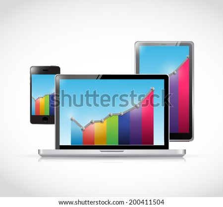 business technology illustration design over a white background - stock photo