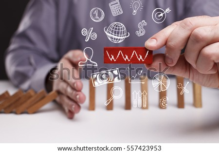 Business, Technology, Internet and network concept. Young businessman shows the word: WWW