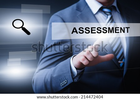 business, technology, internet and networking concept - businessman pressing assessment button on virtual screens - stock photo