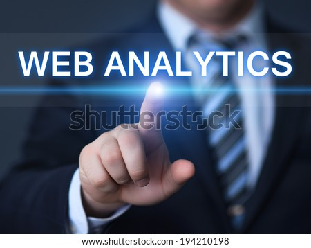business, technology, internet and networking concept - businessman pressing web analytics capital analytics button on virtual screens - stock photo