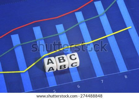 Business Term with Climbing Chart / Graph - ABC