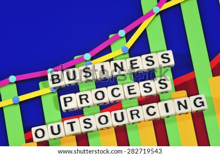 Business Term with Climbing Chart / Graph - Business Process Outsourcing