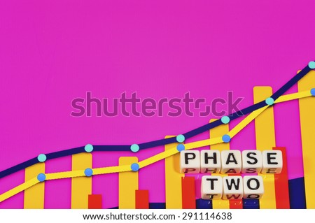 Business Term with Climbing Chart / Graph - Phase Two - stock photo