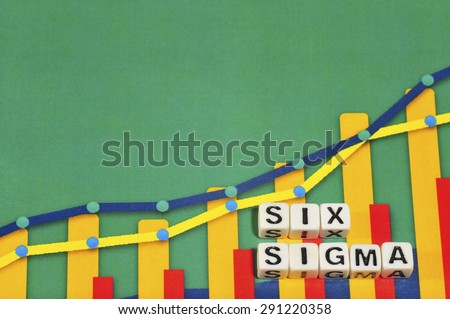 Business Term with Climbing Chart / Graph - Six Sigma - stock photo