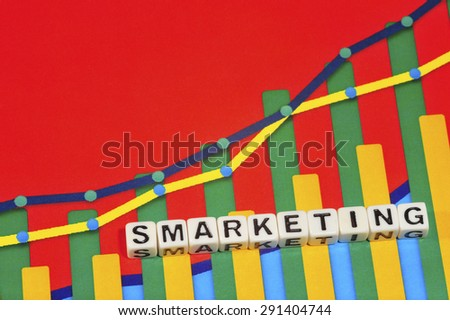 Business Term with Climbing Chart / Graph - Smarketing - stock photo