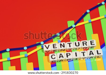Business Term with Climbing Chart / Graph - Venture Capital - stock photo