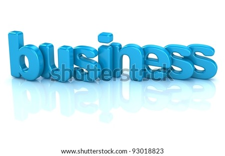 business text 3d isolated over white background