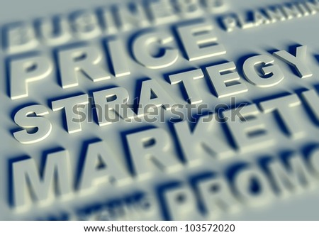 Business text table and strategy