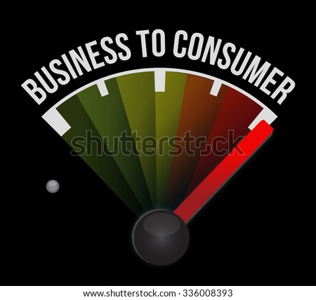 business to consumer meter sign concept illustration design graphic