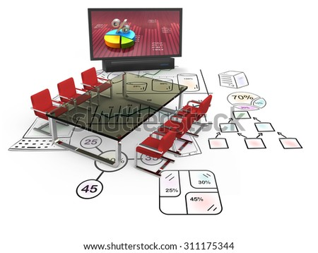 Business training at office, strategy and marketing - stock photo