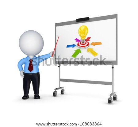 Business training concept.Isolated on white background.3d rendered. - stock photo