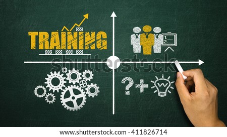 business training concept on blackboard