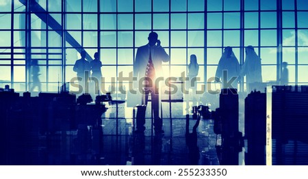 Business Travel Commuter Corporate Airport Terminal Concept - stock photo