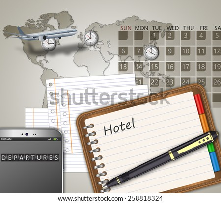 Business travel the world as a concept - stock photo