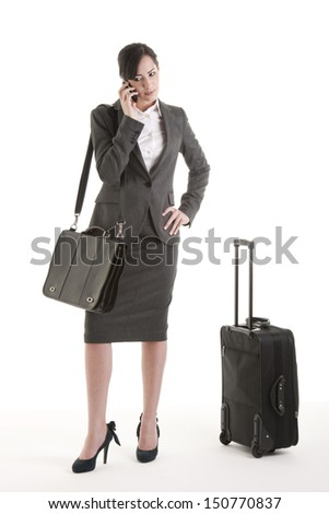 Business traveller on the phone